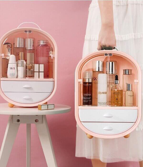 cute makeup organizer box